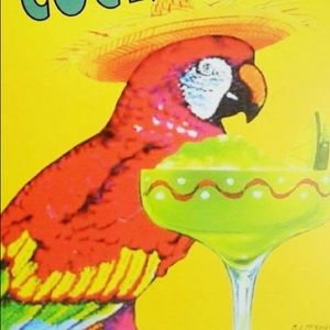 Wall Art - 🆕NWOT Funny Colorful Parrot Tin Wall Art Sign